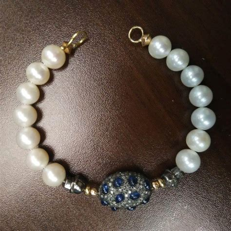 925 Sterling Silver Beaded Bangle pave gold 925 silver sapphire beaded bangle
