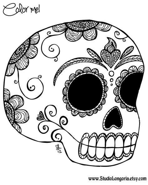 dia de los muertos art coloring pages studio longoria october 2012
