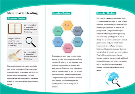 Customizable Leaflet Templates Free Download Presentation Handout Templates