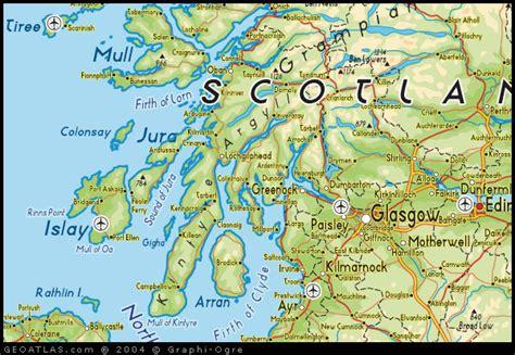 West Scotland map of west scotland map uk atlas