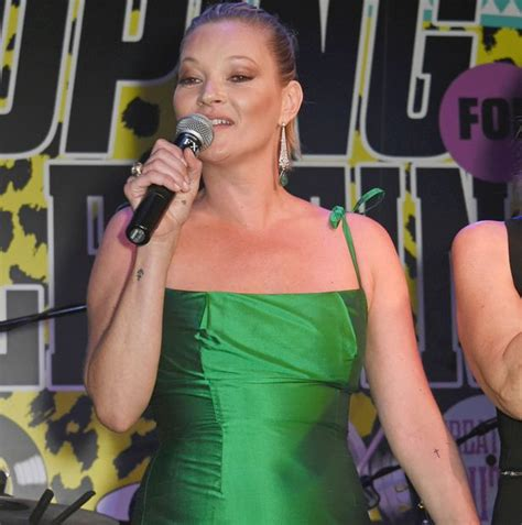 Starry Starry Kate Moss Celebrates Turning 34 by Kate Moss Joins Chrissie Hynde On Stage For Karaoke At