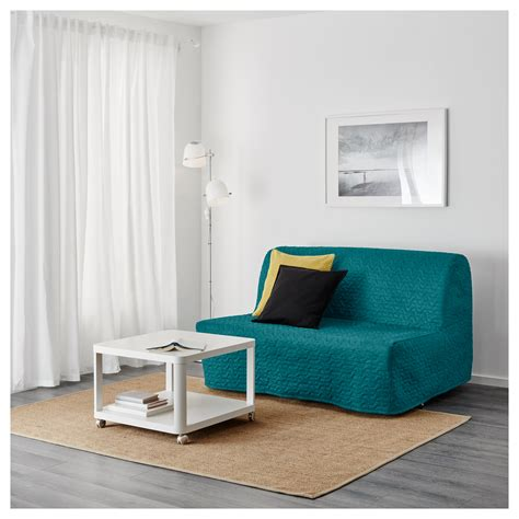 turquoise sofa bed lycksele murbo two seat sofa bed vallarum turquoise ikea