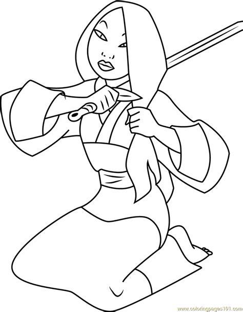 mulan coloring pages pdf mulan cuts hair with sword coloring page free mulan
