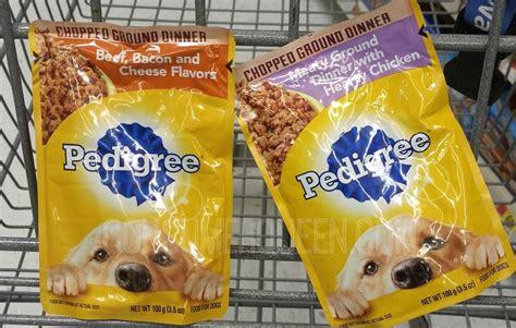 pedigree puppy food walmart pedigree food pouches free at walmart score up to 20