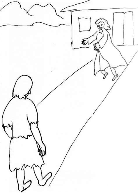 Bible Story Coloring Page For The Prodigal Son Free Prodigal Coloring Pages