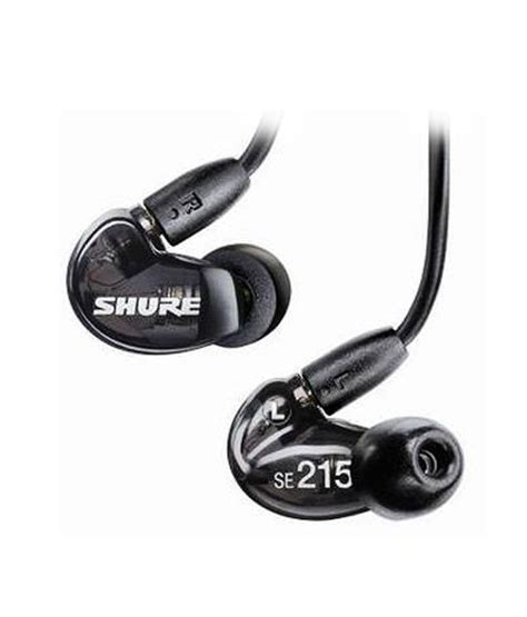 Shure Se215 Se 215 Black Clear Earphone Iem In Ear Monitor buy shure se215 k kce sound isolating earphones translucent black at best price in