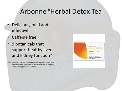Arbonne Detox Tea While by Healthy Vegan Snacks Featuring Arbonne Wellness Products