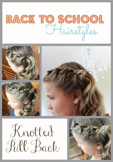 easy hairstyles for the day of high school back to school hairstyles knotted pull back