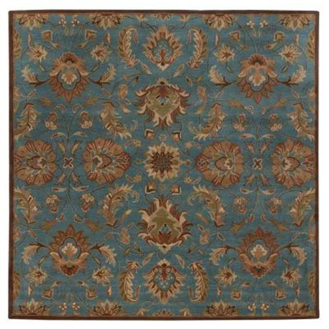 Teal Area Rug Home Depot by Home Decorators Collection Vogue Teal Blue 8 Ft Square Area Rug 0167480310 The Home Depot