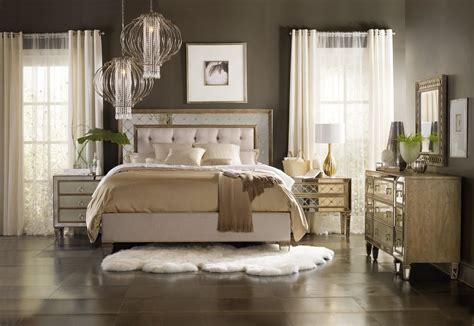 sanctuary mirrored upholstered bedroom collection