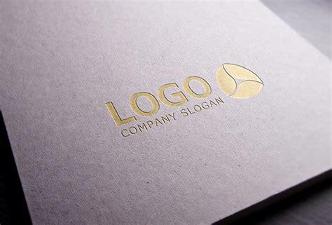 Gold Stamping Logo Mockup Free Designs