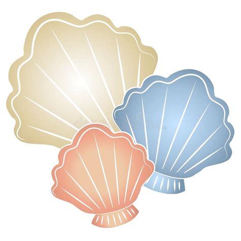 sea shell clip pastel seashells clip stock illustration image of