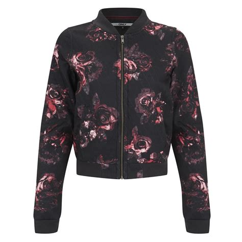 Rsby 494 Hodie Jacket Pink Print only s print bomber jacket black pink womens