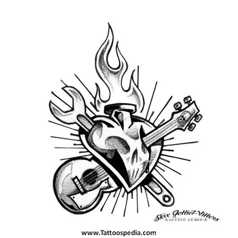 the rock tattoo design name rock n roll designs 1