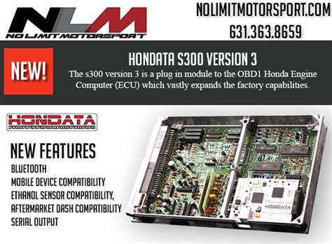 Tas Motor Parts March new hondata s300 version 3 no limit motorsport