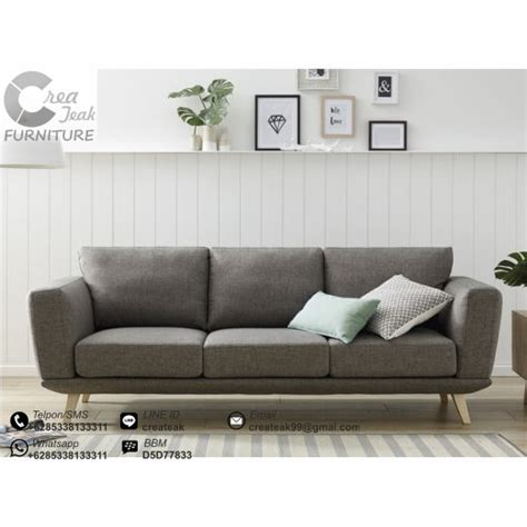 Jual Sofa Bed Minimalis Murah sofa vintage minimalis cyrus createak furniture