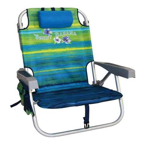 Tommy bahama folding beach chair green stripes