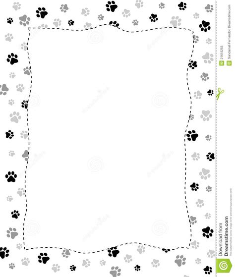 Paw Print Page Border Clip by Paw Print Border Clip 101 Clip
