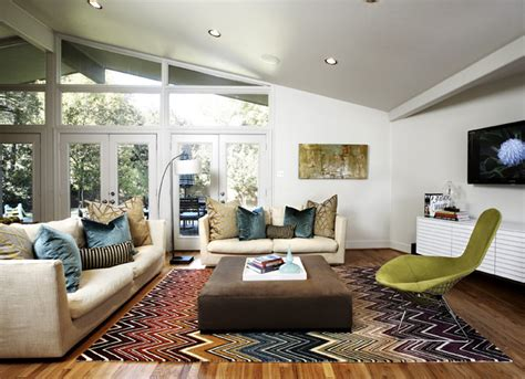 Midcentury Living Room by Mid Century Modern Family Room Midcentury Living Room