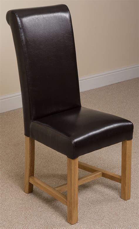 Ivory Leather Dining Room Chairs Washington Braced Scroll Back Ivory Leather Dining Room Kitchen Chairs Ebay
