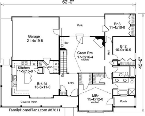 porch floor plans craftsman style home plans craftsman style house plans