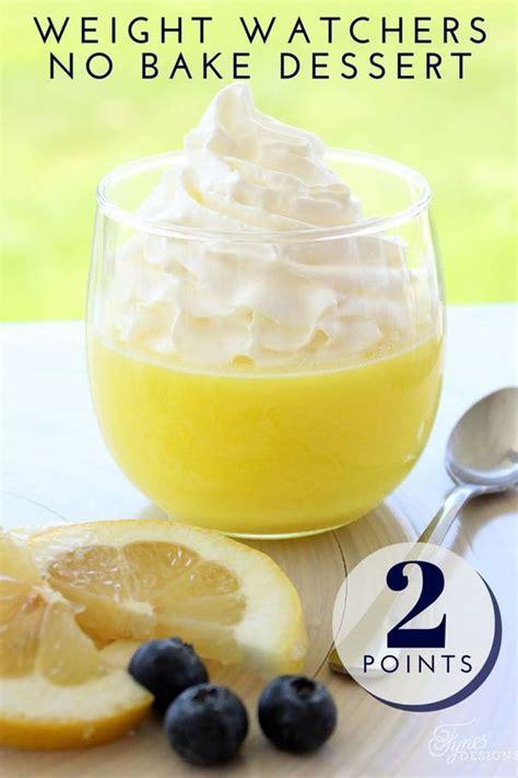 fruit zero points weight watchers lemon weight watchers dessert recipe no bake desserts