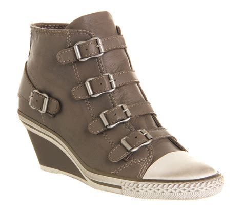 womens ash genial wedge boot perkish leather boots ebay