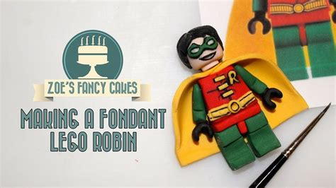 lego gumpaste tutorial how to make a fondant lego robin superhero how to tutorial