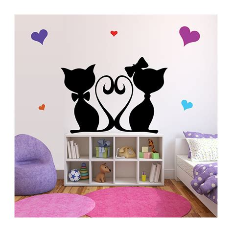 stickers muraux chambre bebe stickers chambre b 233 b 233 chats roses une d 233 coration pour