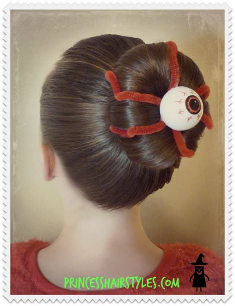 crazy hair day hairstyle princess hairstyles eyeball bun hairstyle for halloween or crazy hair day