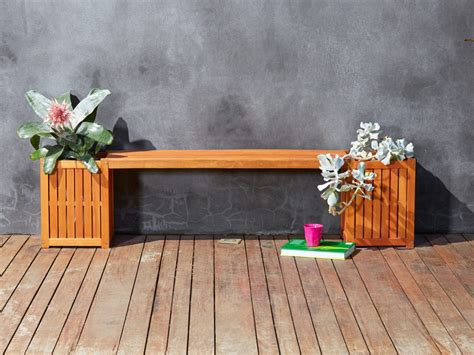 planter box bench seat 9 cute practical garden storage solutions we love