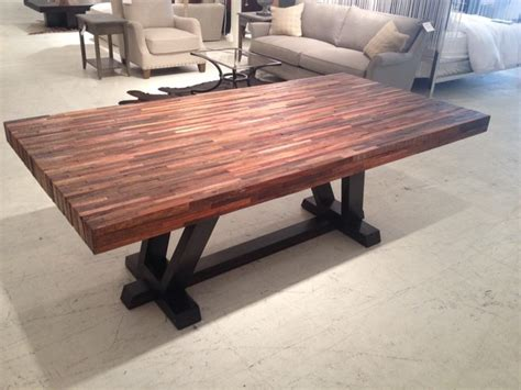 reclaimed wood dining table transitional dining