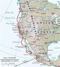 west america map west coast america chart