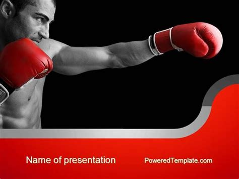 Boxing Powerpoint Template Bountr Info Boxing Templates Free