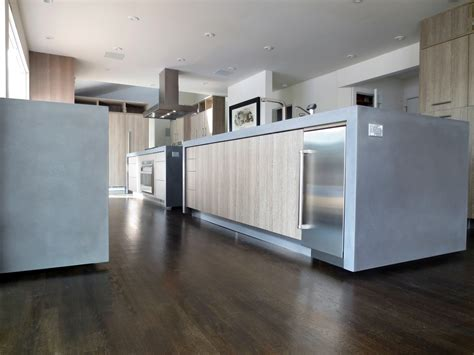 Modern Kitchen Concrete Countertops by This Is Kitchen With Two Concrete Island