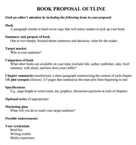 how to book template book outline template 9 free documents in pdf