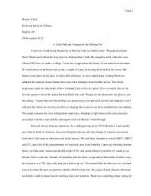 How To Write A College Narrative Essay by M Clark College Writing Seminar Visual Narrative Essay