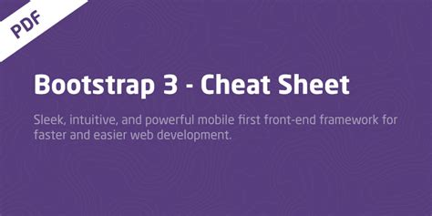 bootstrap tutorial in urdu pdf free download master cheat sheet for twitter bootstrap 3 pdf download
