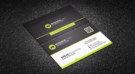 green and business card template free lime green corporate business card template