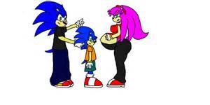 Sonic x amy s family by truephazonianforce on deviantart