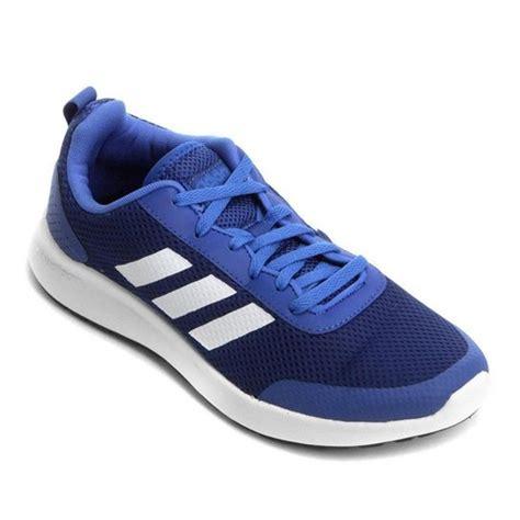 tenis adidas cf element race masculino branco  azul