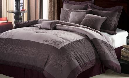 King Comforter Sets Groupon by 11 Or King Embroidered Comforter Set With