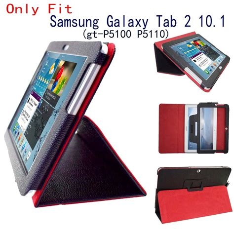 Flip Cover Samsung Tab 2 10 1 Best Tab 2 10 1 P5100 P5110 Flip Stand Pu Leather Folio Cover For Samsung Galaxy Tab 2