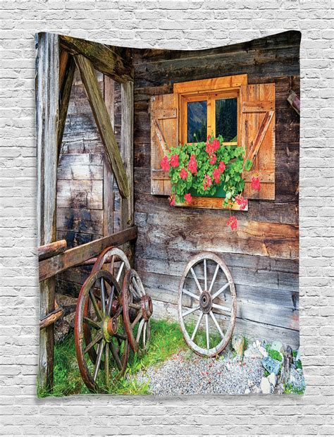 Countryside Decor by Rustic Tapestry Wall Hanging Farmhouse Countryside Home
