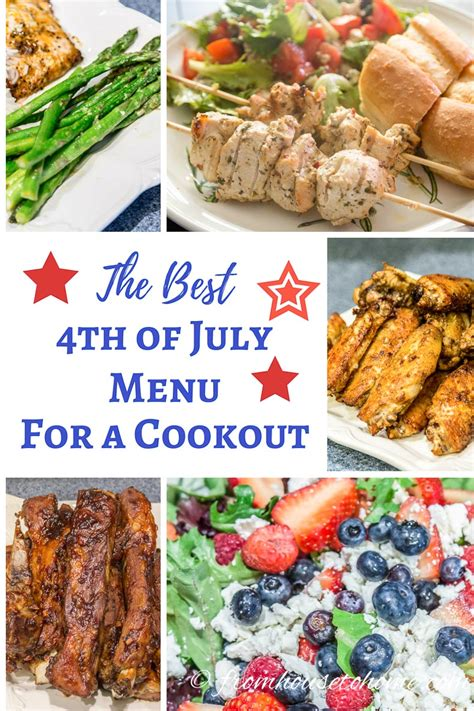 best 4th of july menu for a cookout