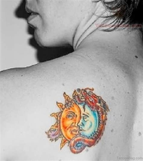 colorful sun tattoo 54 sun tattoos for back