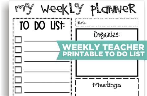 112 best images about teacher to do lists on pinterest 7 best images of teacher printable to do list free