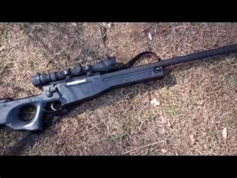 well l96 awp gas sniper shooting test