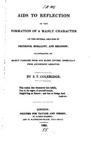 aids to reflection in the formation of a manly character on the several grounds of prudence morality and religion illustrated by select passages from archbishop leighton classic reprint ebook christabel kubla khan a vision the pains of sleep