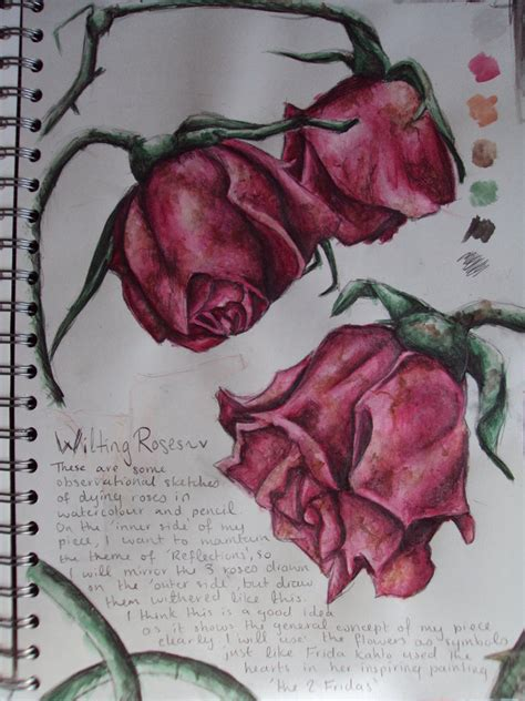 wilting rose tattoo how to draw wilted roses